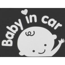 """Наклейка на стекло машины """"Baby in Car"""""""