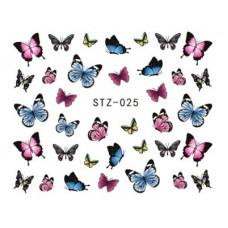 Набор Наклеек Для Ногтей stz-025