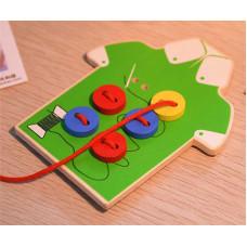 Детская Развивающая Игра с Пуговицами и Шнурком