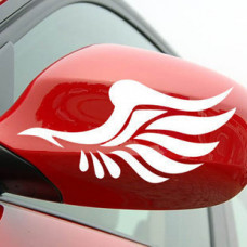 Наклейка на машину (Крылья) Белые
