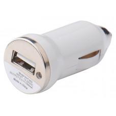 USB Адаптер (1 Порт) в Прикуриватель Автомобиля (Белый)