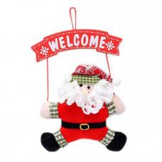"""Новогоднее украшение на дверь """"Дед мороз"""""""